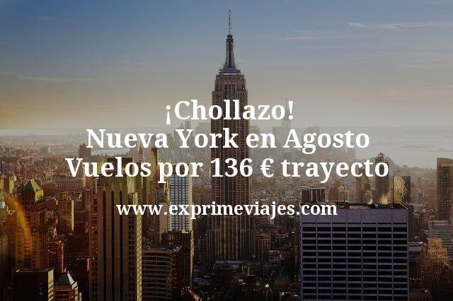 ¡Ganga! Nueva York en Agosto: Vuelos por 136€ trayecto