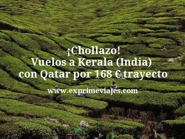 ¡Chollazo! Vuelos a Kerala (India) desde España con Qatar por 168€ trayecto