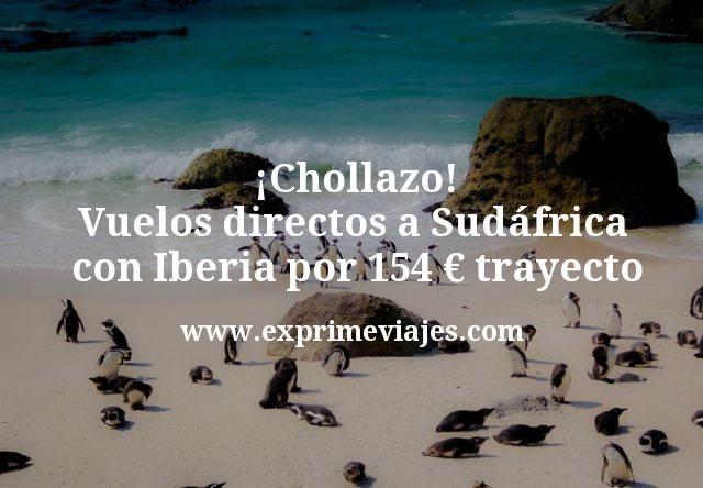 ¡Chollazo! Vuelos directos a Sudáfrica con Iberia por 154€ trayecto