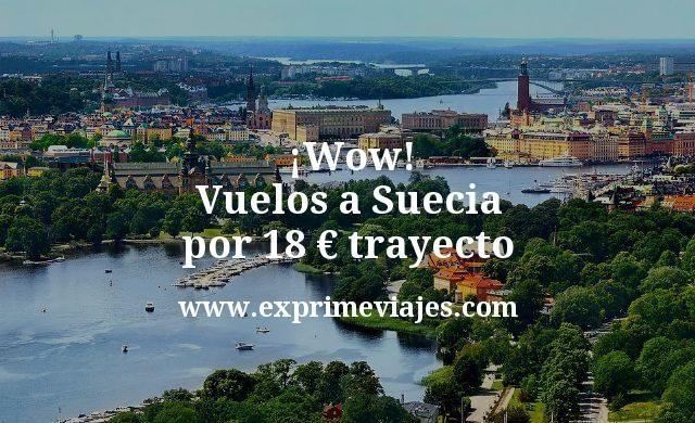 ¡Wow! Vuelos a Suecia por 18euros trayecto