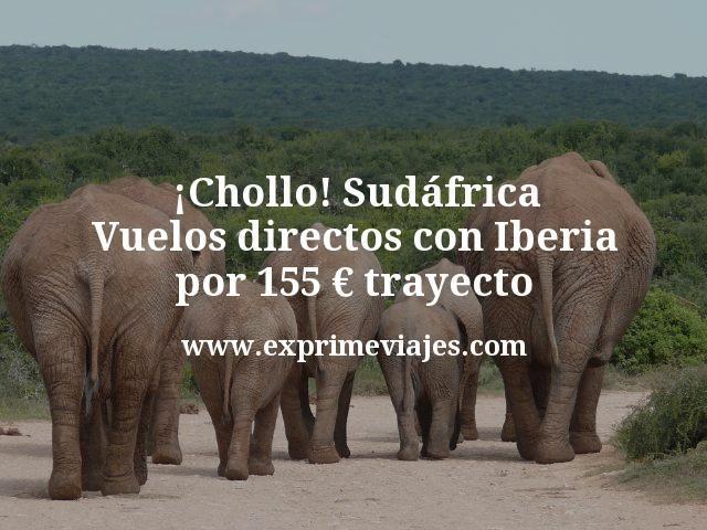 ¡Chollo! Sudáfrica: Vuelos directos con Iberia por 155€ trayecto