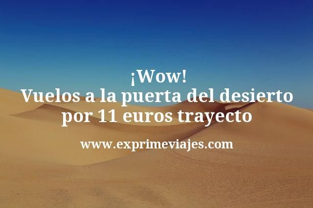 ¡Wow! Vuelos a la Puerta del Desierto por 11€ trayecto