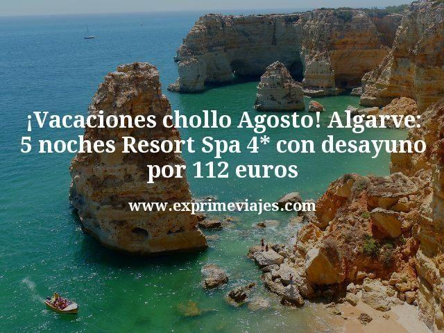 ¡Vacaciones chollo en Agosto! Algarve: 5 noches Resort Spa 4* con desayuno por 112€