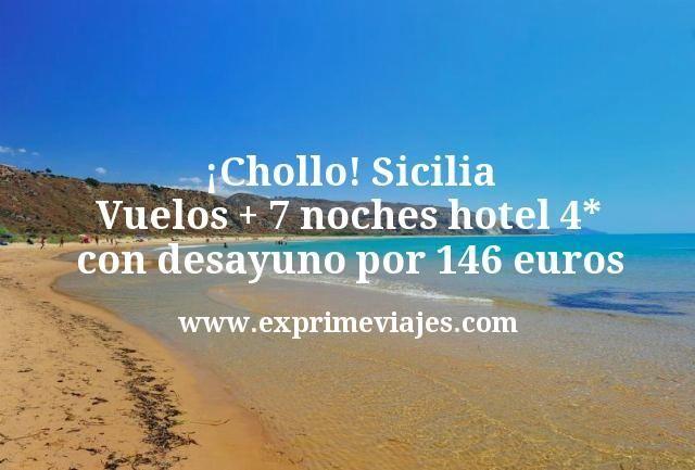 ¡Chollazo! Sicilia: Vuelos + 7 noches hotel 4* con desayuno por 146euros