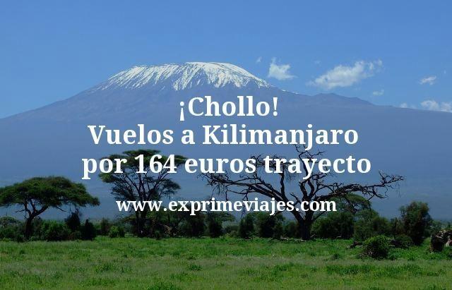 ¡Chollo! Vuelos a Kilimanjaro por 164euros trayecto