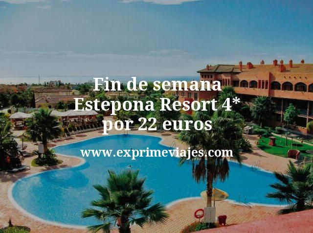 Fin de semana Estepona: Resort 4* por 22€ p.p/noche