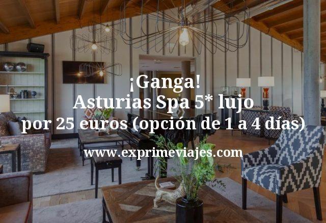 ¡Ganga! Asturias: Spa 5* lujo por 25€ p.p/noche (opción de 1 a 4 días)