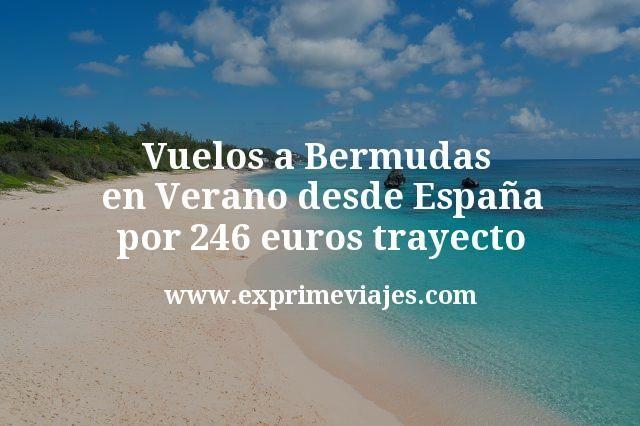 Vuelos a Bermudas en Verano desde España por 246euros trayecto