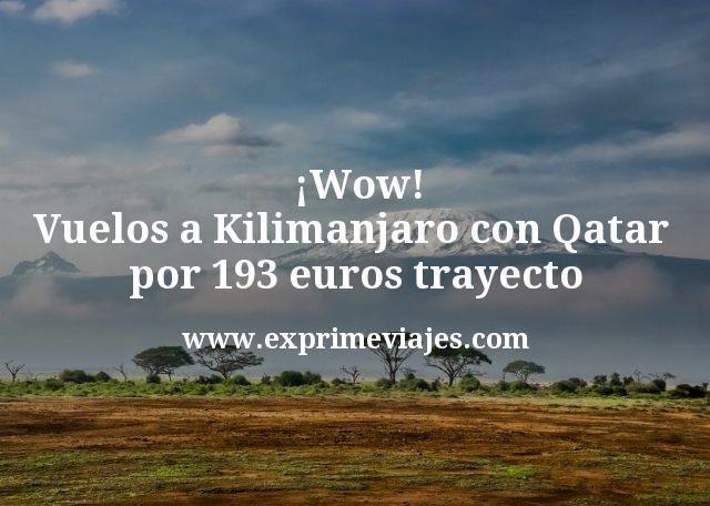 ¡Wow! Vuelos a Kilimanjaro con Qatar por 193euros trayecto