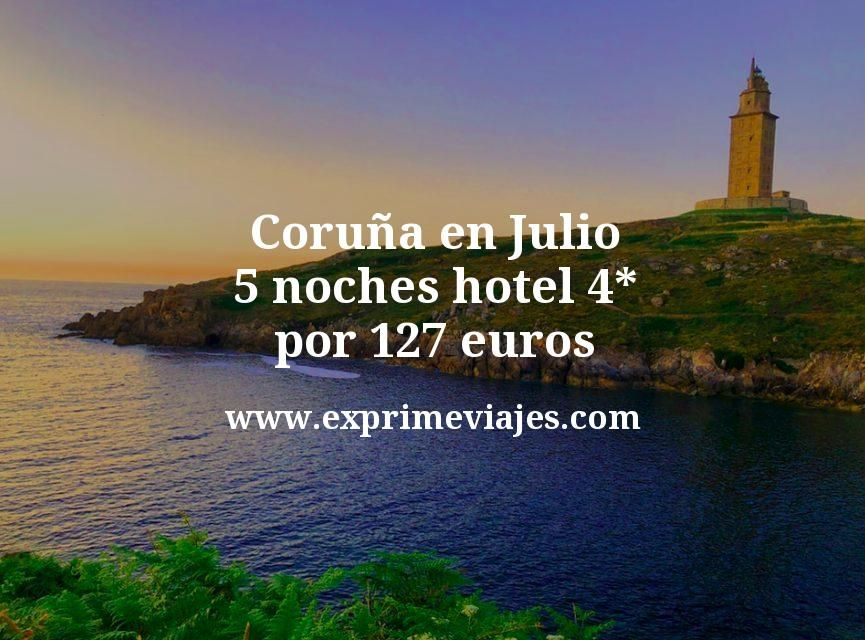¡Chollo! Coruña en Julio: 5 noches hotel 4* por 127euros