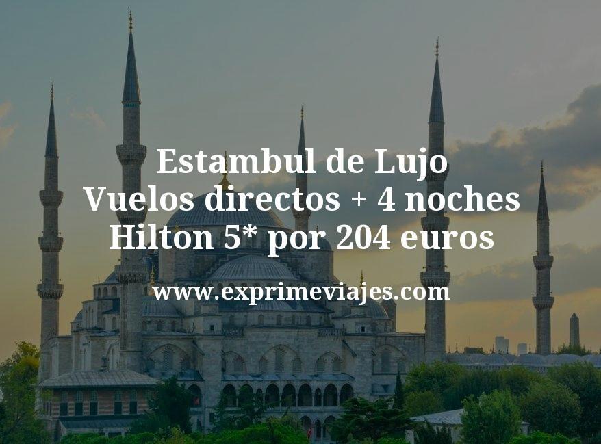 ¡Ganga! Estambul de Lujo: Vuelos directos + 4 noches Hilton 5* por 204euros