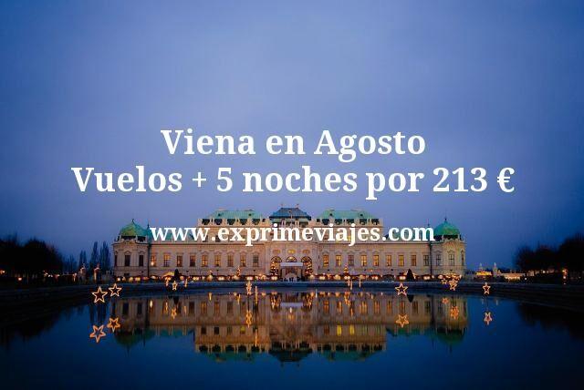Viena en Agosto: Vuelos + 5 noches por 213euros