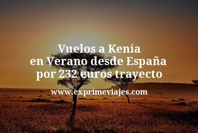 Vuelos a Kenia en Verano desde España por 232euros trayecto