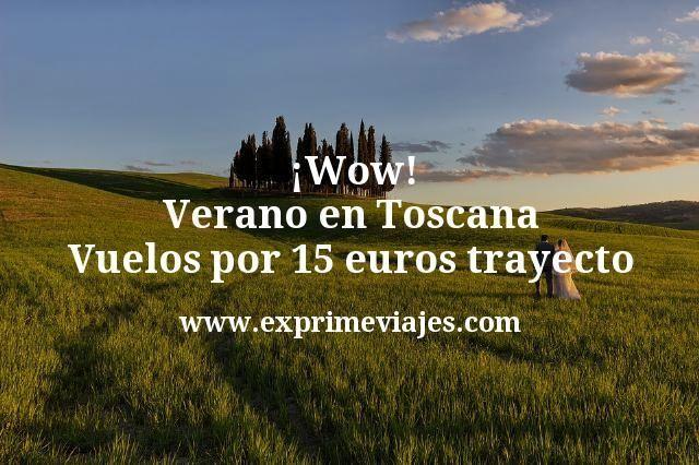 ¡Wow! Verano en Toscana: Vuelos por 15euros trayecto