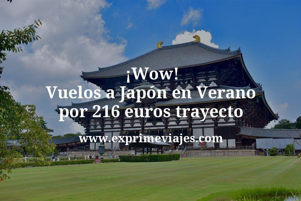 ¡Wow! Vuelos a Japón en Verano por 216euros trayecto