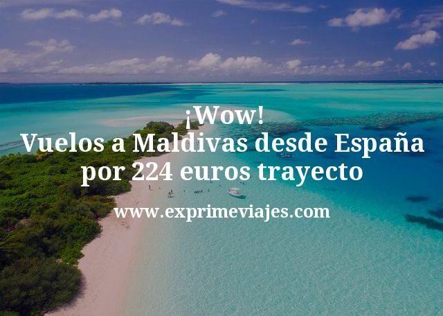 ¡Wow! Vuelos a Maldivas desde España por 224euros trayecto