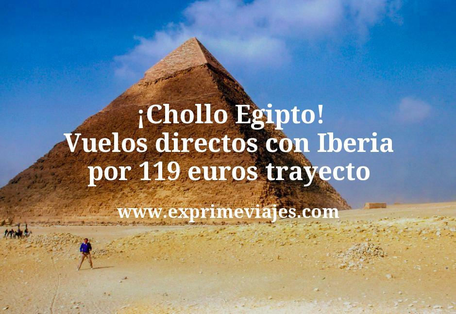 ¡Chollo! Egipto: Vuelos directos con Iberia por 119euros trayecto