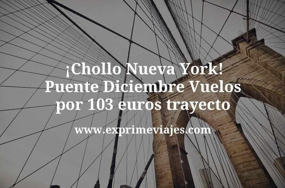 ¡Chollo! Nueva York Puente Diciembre: Vuelos por 103euros trayecto