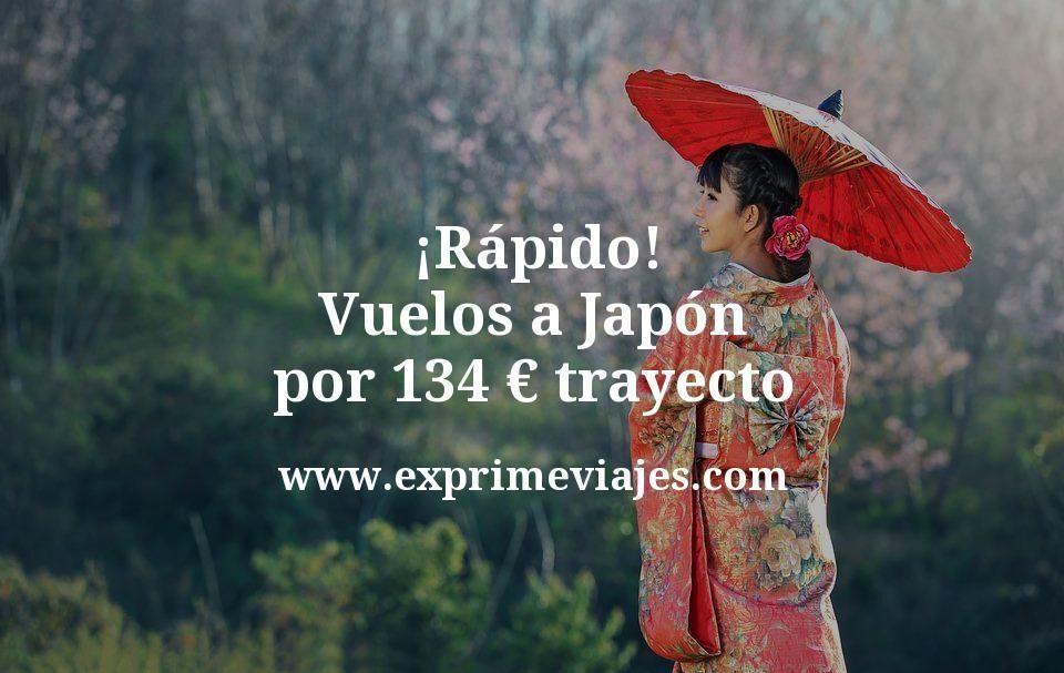 ¡Rápido! Vuelos a Japón por 134€ trayecto