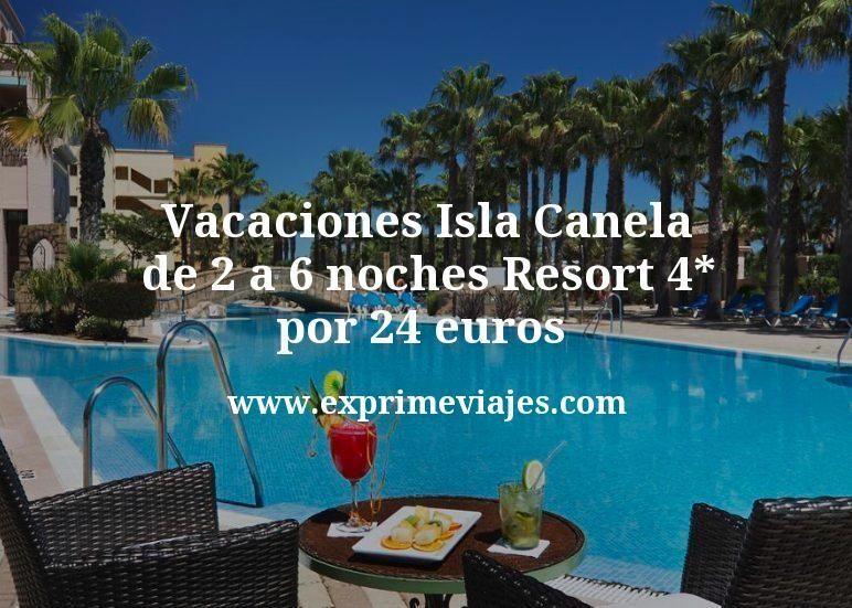 Vacaciones Isla Canela: de 2 a 6 noches Resort 4* por 24€ p.p/noche