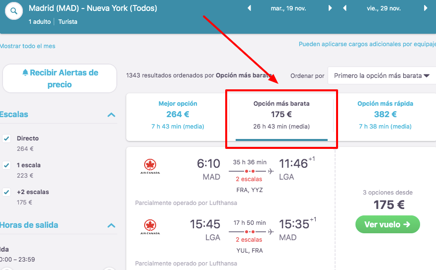 vuelos baratos a nueva york desde madrid 87 euros trayecto