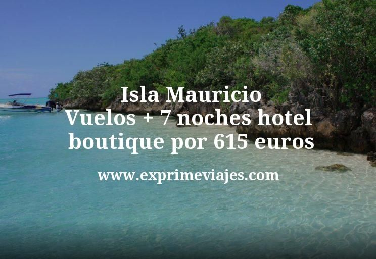 ¡Wow! Isla Mauricio: Vuelos + 7 noches hotel boutique por 615euros