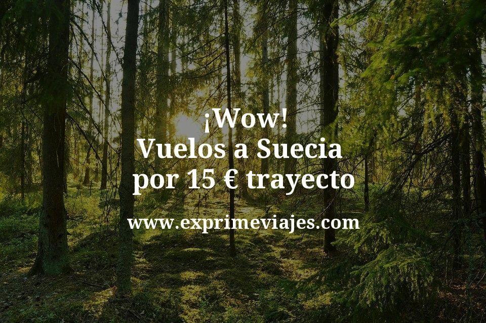 ¡Wow! Vuelos a Suecia por 15euros trayecto