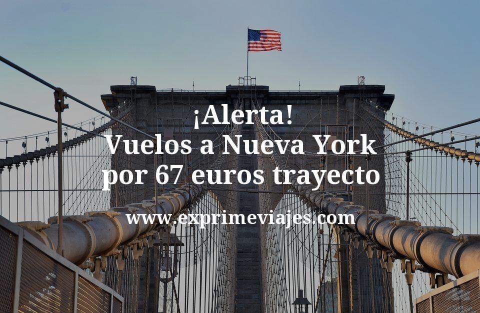 ¡Alerta! Vuelos a Nueva York por 67euros trayecto