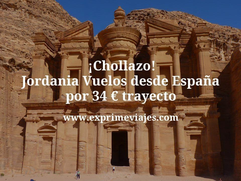 ¡Chollazo! Jordania: Vuelos desde España por 34€ trayecto