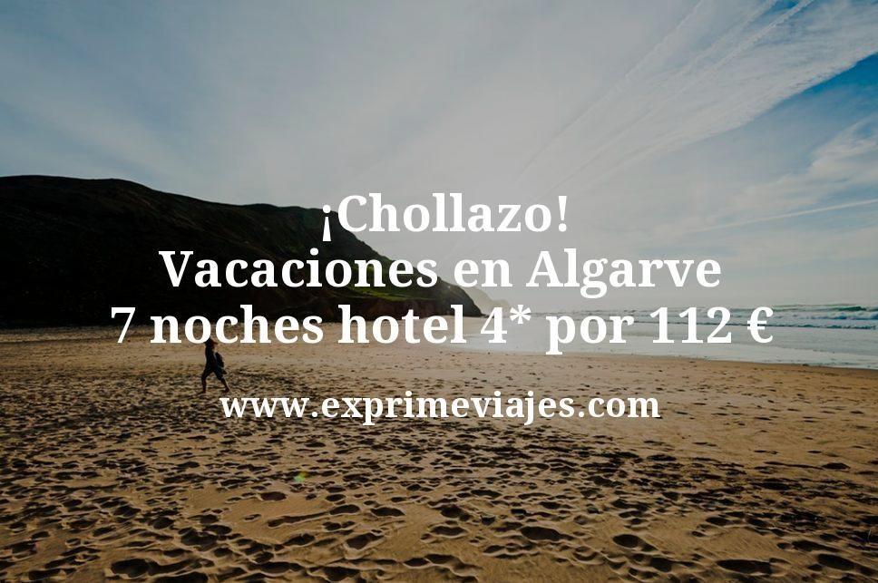 ¡Chollazo! Vacaciones en Algarve: 7 noches hotel 4* por 112euros p.p