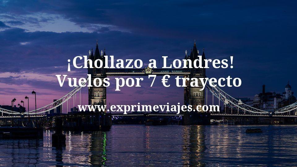 ¡Chollazo! Londres: Vuelos por 7euros trayecto