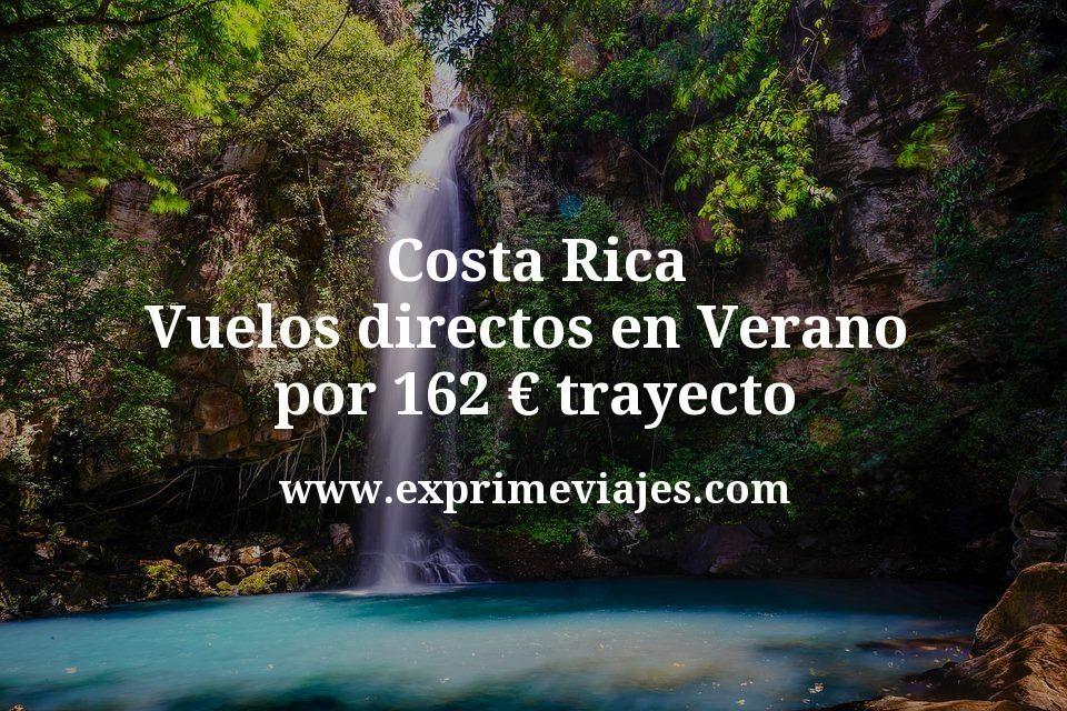 ¡Wow! Costa Rica: Vuelos directos en Verano por 162€ trayecto