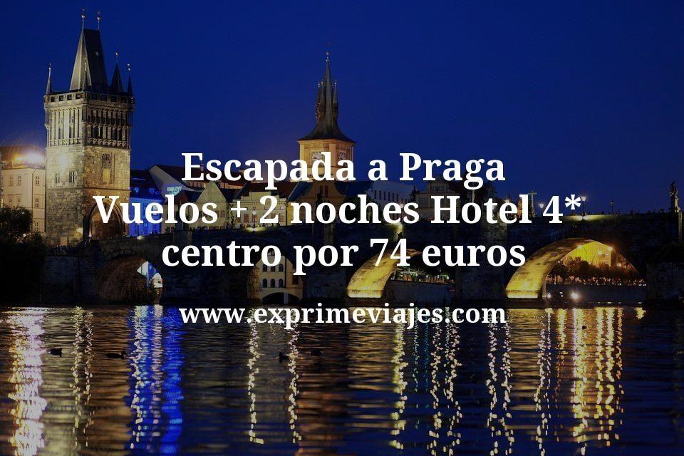 Escapada a Praga: Vuelos + 2 noches Hotel 4* centro por 74euros