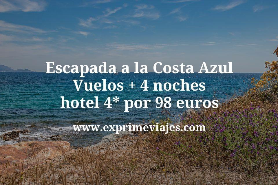 Escapada a la Costa Azul: Vuelos + 4 noches hotel 4* por 98euros