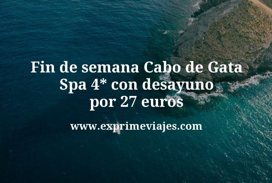 Fin de semana Cabo de Gata: Spa 4* con desayuno por 27€ p.p/noche