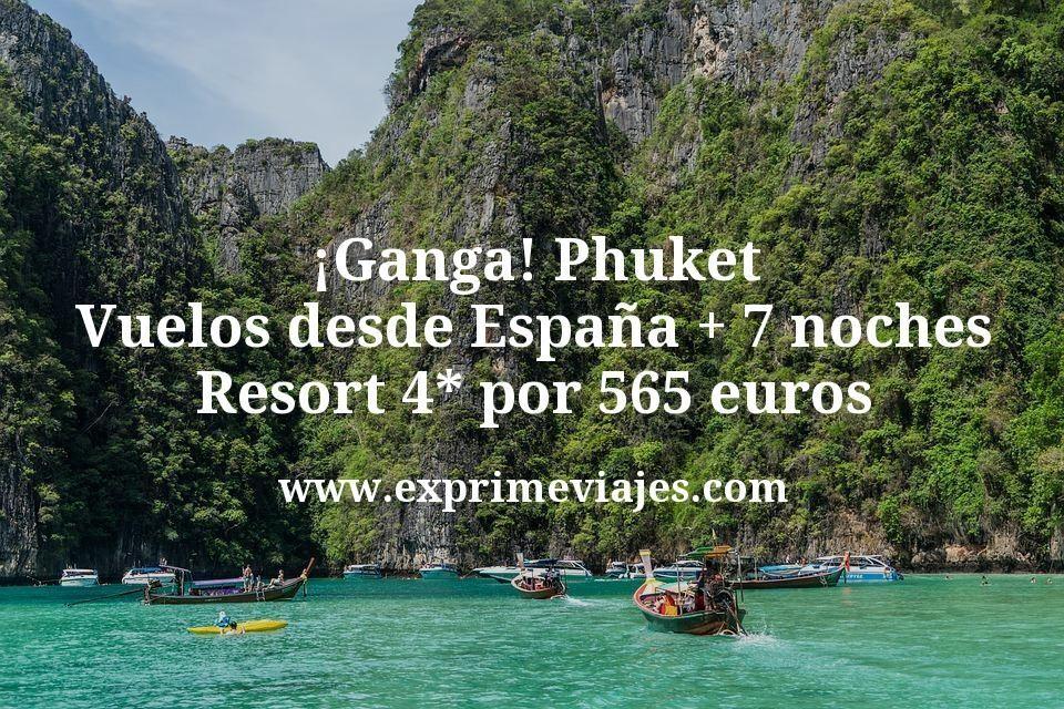 ¡Ganga! Phuket: Vuelos desde España + 7 noches Resort 4* por 565euros