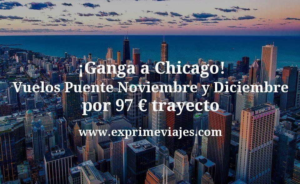 ¡Ganga! Chicago en el Puente de Noviembre y Diciembre por 97€ trayecto