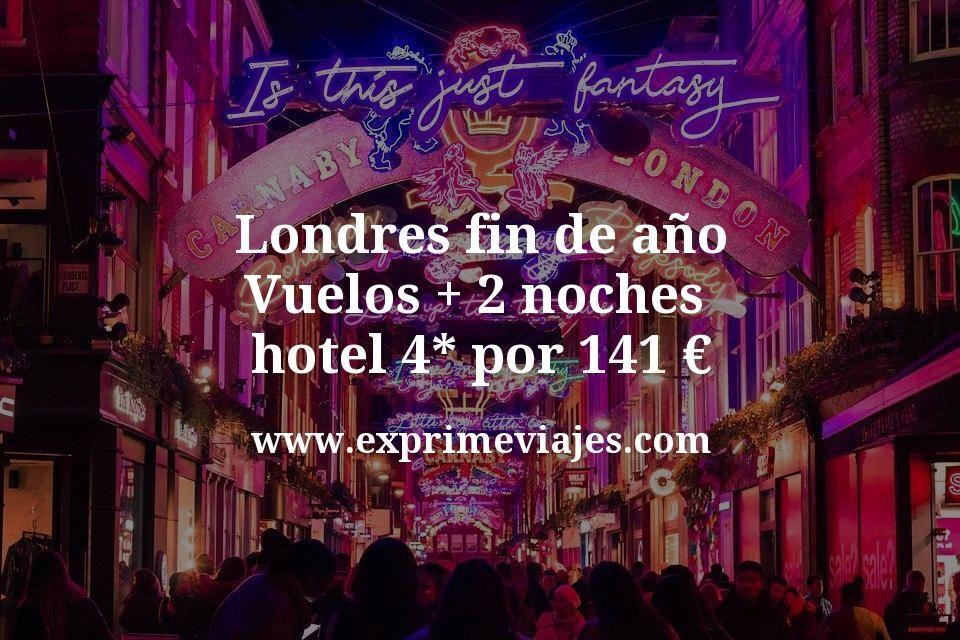 ¡Wow! Londres fin de año: Vuelos + 2 noches hotel 4* por 141euros