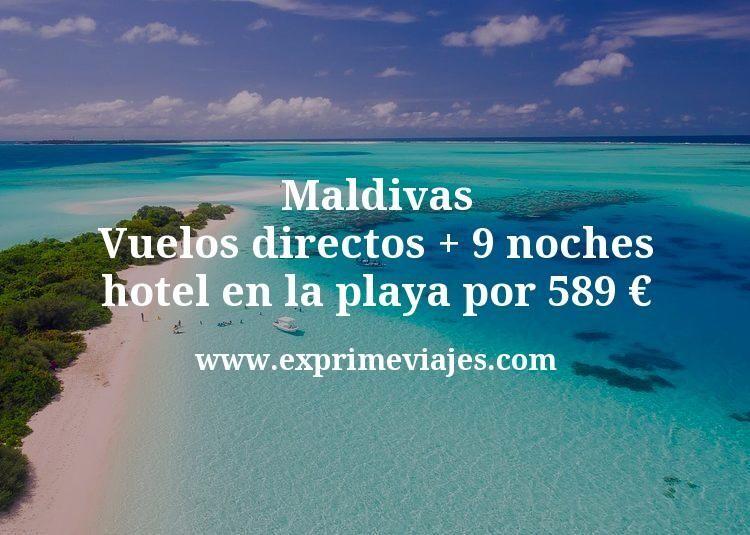 ¡Wow! Maldivas: Vuelos directos + 9 noches hotel en la playa por 589euros