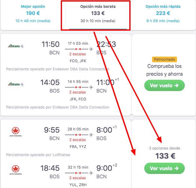 vuelos a estados unidos 66 euros trayecto