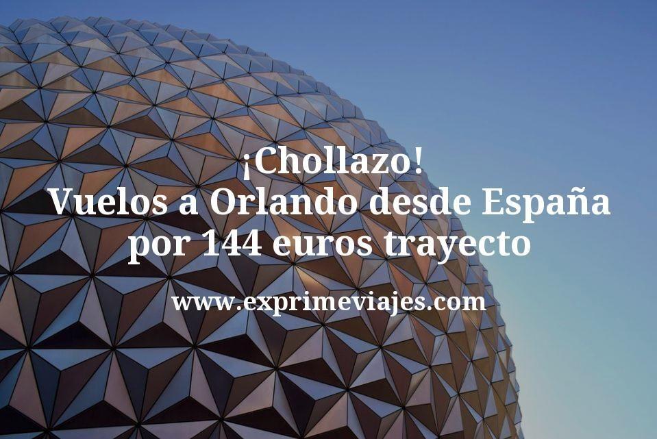 ¡Chollazo! Vuelos a Orlando desde España por 144euros trayecto
