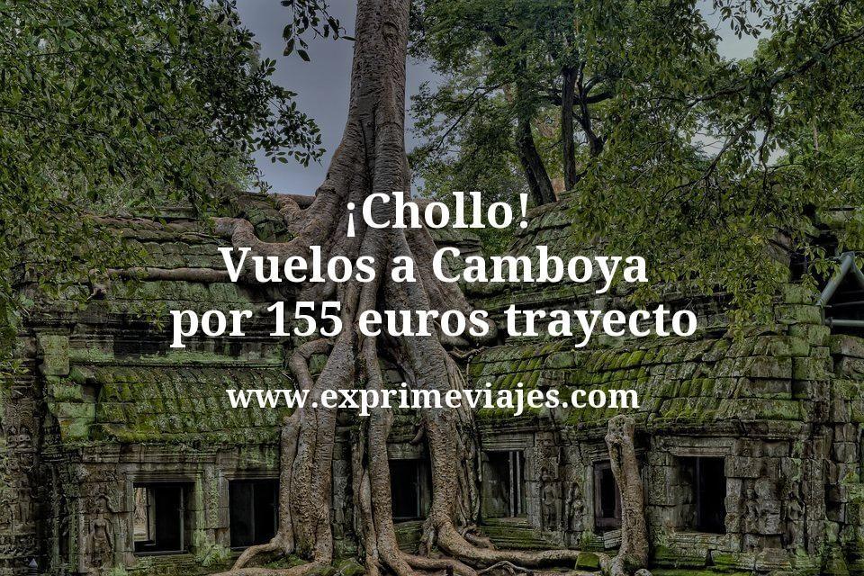 ¡Chollo! Camboya: Vuelos por 155euros trayecto