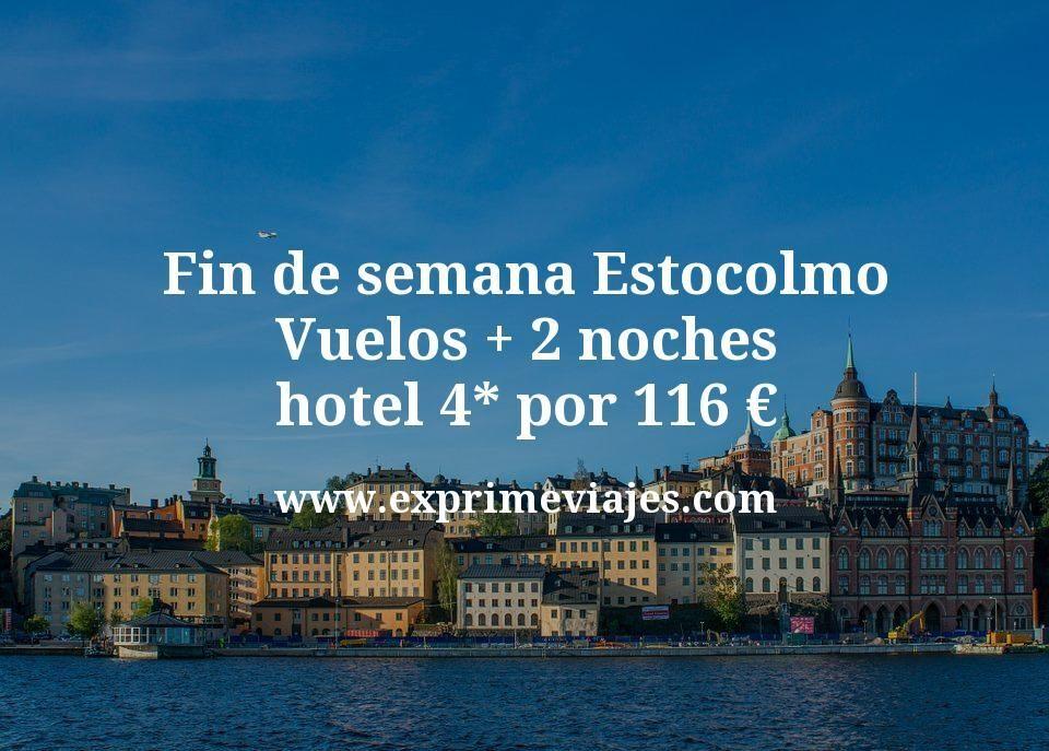 Fin de semana Estocolmo: Vuelos + 2 noches hotel 4* por 116euros