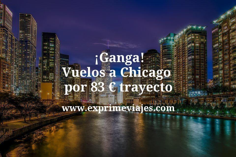 ¡Ganga! Vuelos a Chicago por 83euros trayecto