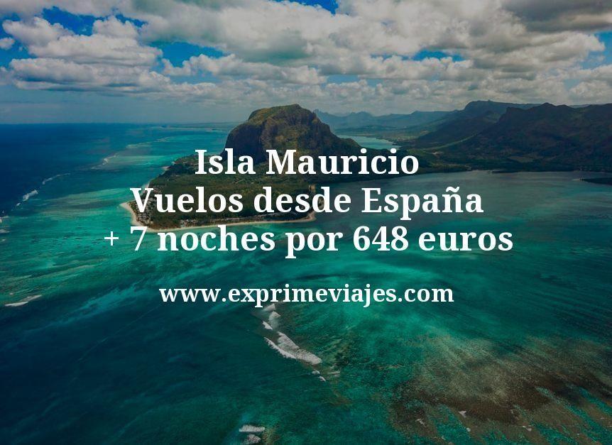 ¡Wow! Isla Mauricio: Vuelos desde España + 7 noches por 648euros
