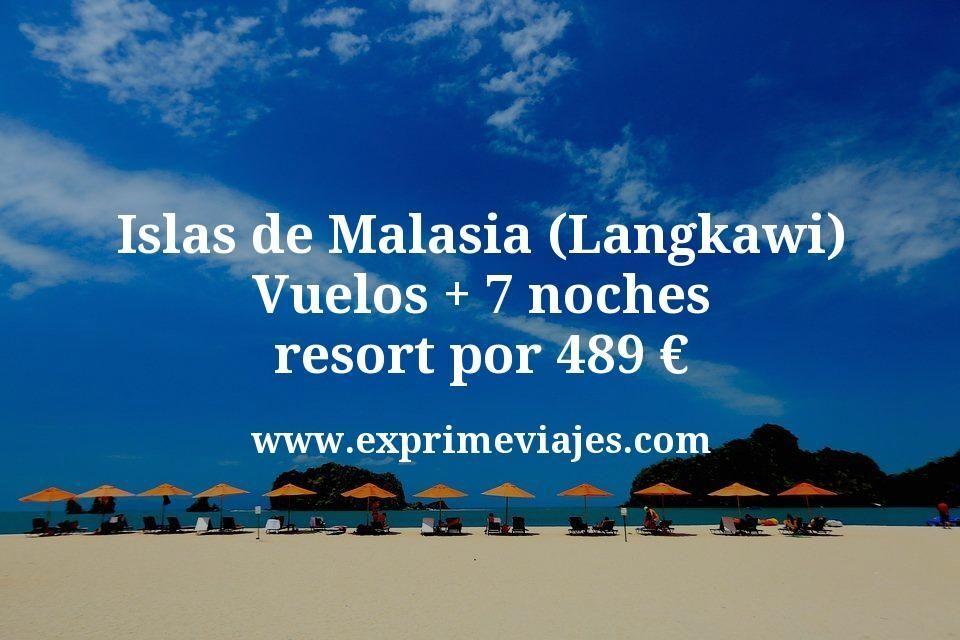Islas de Malasia (Langkawi): Vuelos con Qatar + 7 noches resort por 489€