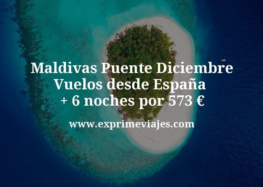 ¡Wow! Maldivas Puente Diciembre: Vuelos desde España + 6 noches por 573euros