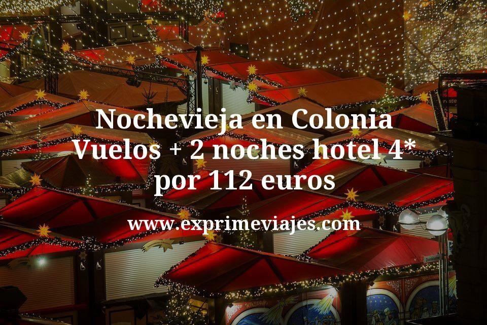 Nochevieja en Colonia: Vuelos + 2 noches hotel 4* por 112euros