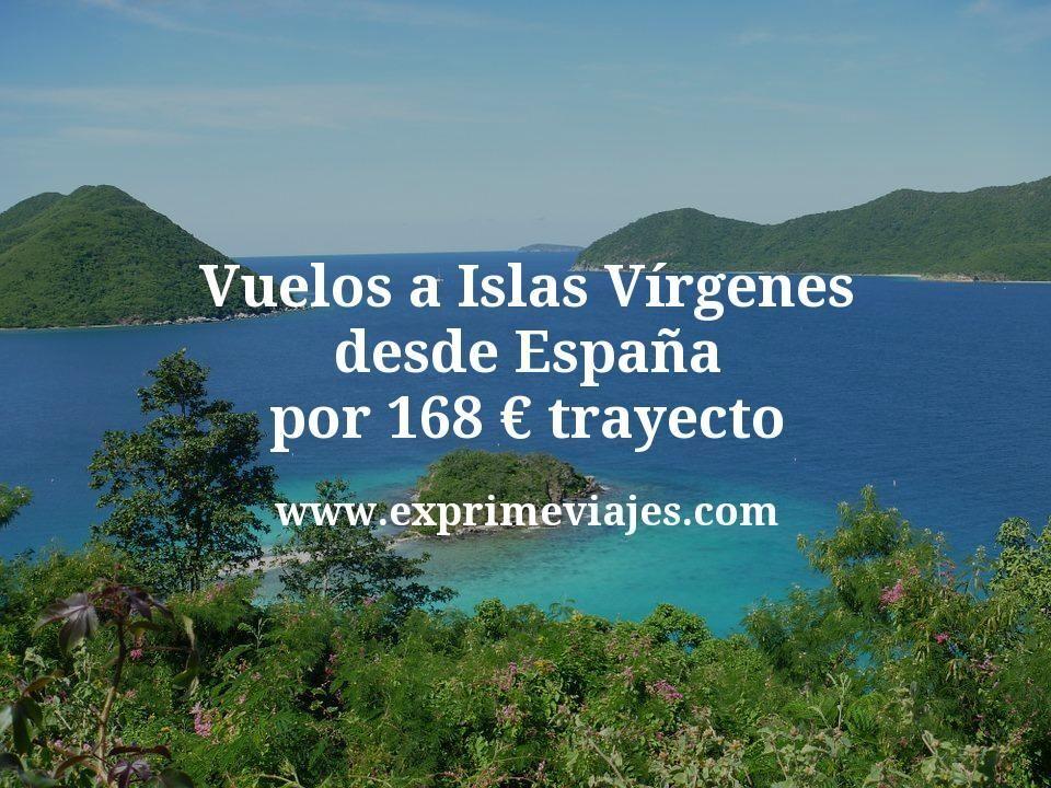 ¡Wow! Vuelos a Islas Vírgenes desde España por 168euros trayecto