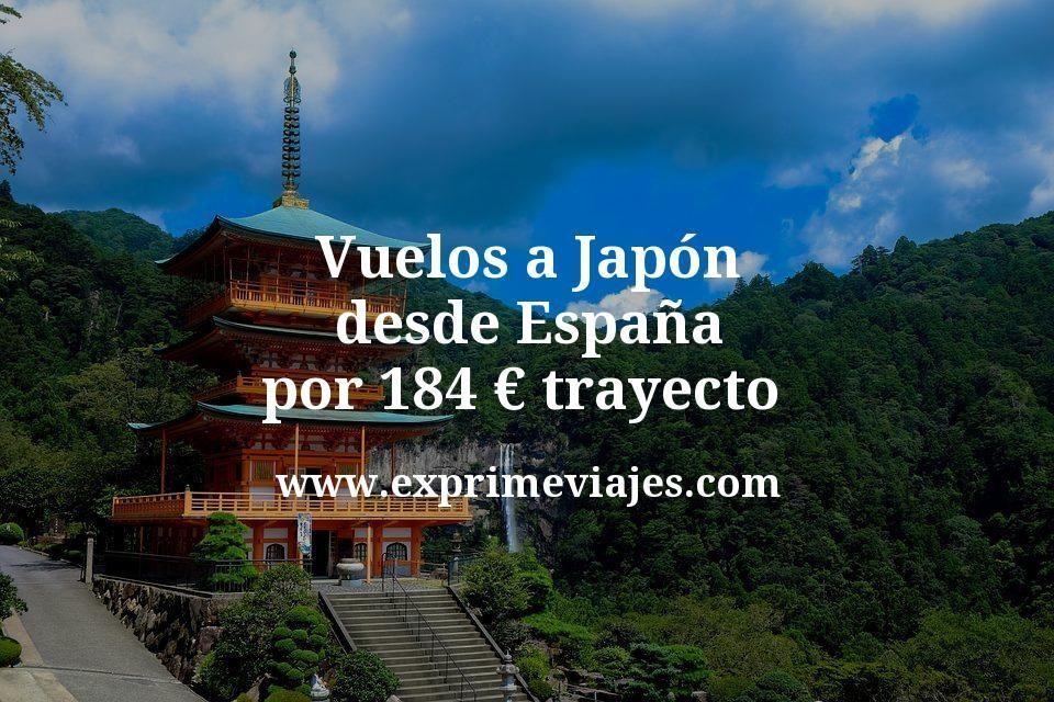 ¡Chollazo! Vuelos a Japón desde España por 184euros trayecto
